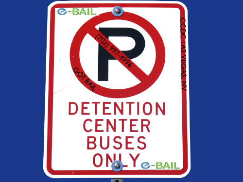 detention center buses only sign clark county detention center