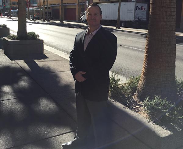 Marc Gabriel serves bail bonds to the North Las Vegas Jail